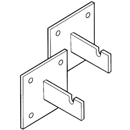 Products SA-102 Wall Mounting Brackets for Wire Grid Panels, 2-Pack, Use these brackets to secure wire grid panels to a wall By Ingles