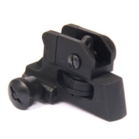 TACFUN Tactical Match-Grade Detachable Rear Sight for Picatinny Rails Rifle Shotgun
