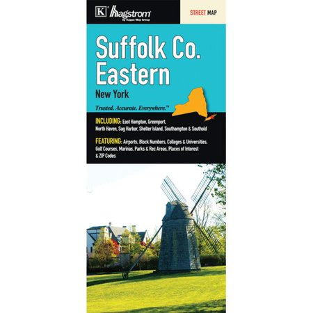 Universal Map Suffolk County Eastern Fold Map  Set Of 2