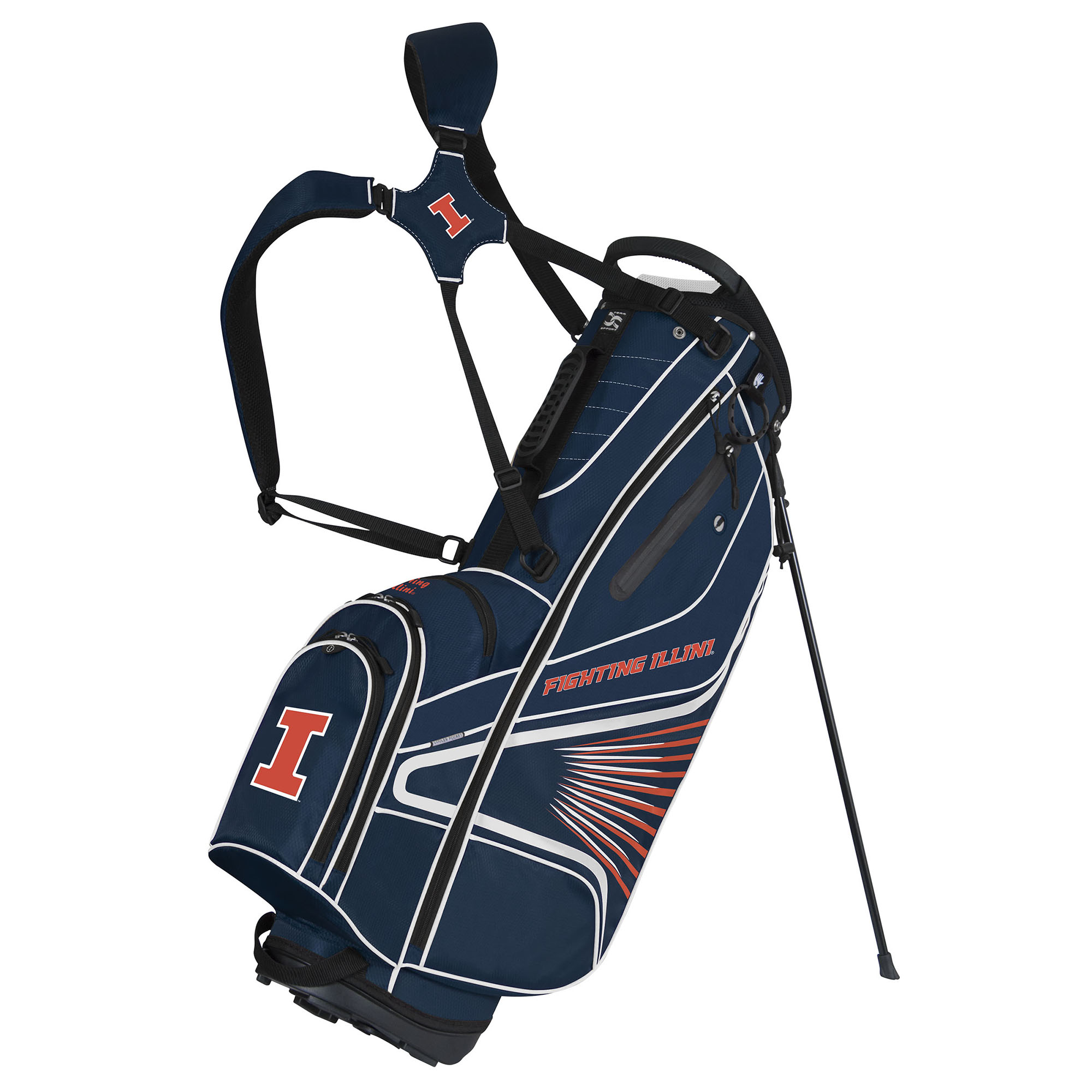 Team Effort Illinois Fighting Illini GridIron III Stand Golf Bag