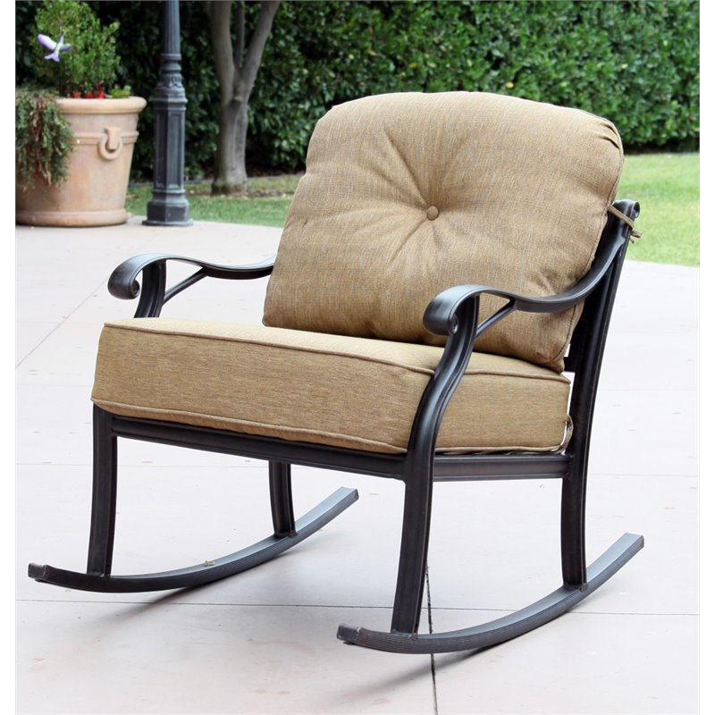 Darlee Nassau Patio Rocking Chair in Antique Bronze (Set of 2)
