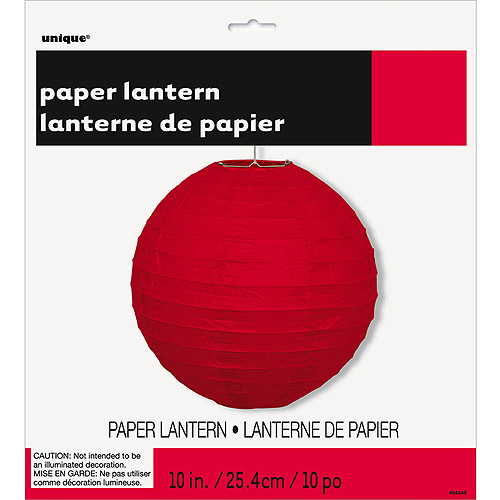 Round Paper Lantern, 10 in, Black, 1ct