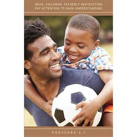 Fatherly Instruction Father's Day Bulletin (Pkg of 50): African American Father and Son