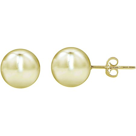 Signature 18K Gold Plated 4mm Ball Stud Earrings One Size Gold tone