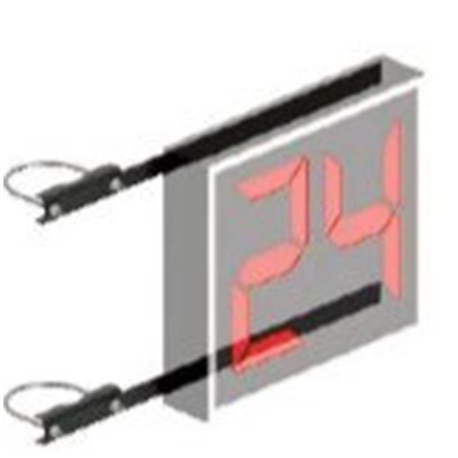 Jaypro Sports SCMB238-A 2.37 in. Double Drop Shot Clock Mounting Brackets