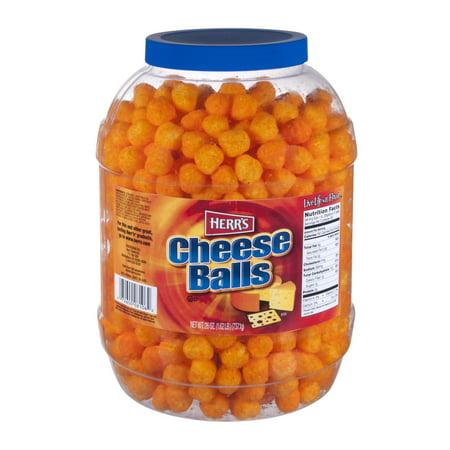 Herr's Cheese Balls, 26 Oz. - Cheese Ball Face Halloween
