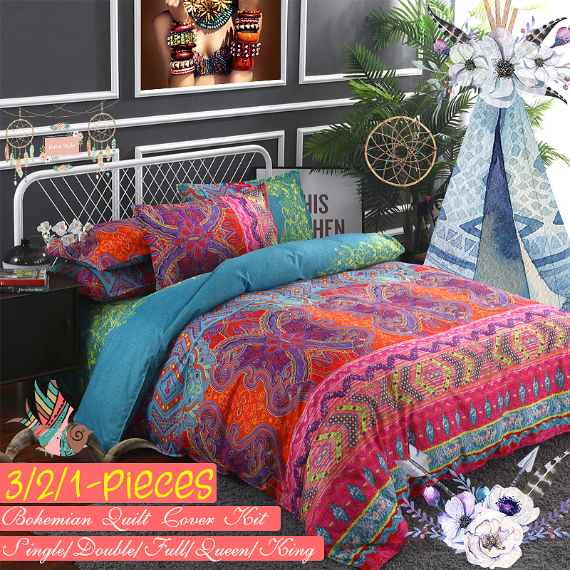 3 2 1 Pieces Bedding Set Luxury, Boho Bedding Queen Size