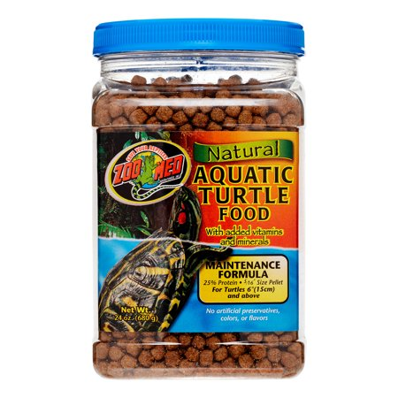Zoo Med Natural Aquatic Maintenance Formula Turtle Food, 24 Oz
