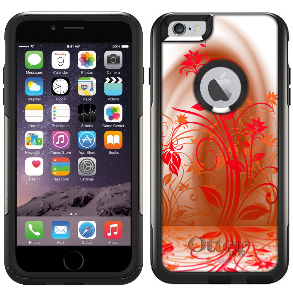 Otterbox Commuter Case for Apple iPhone 6 Plus - Red Plant Beautiful Shadows on White