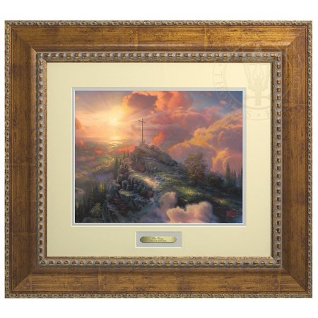 Thomas Kinkade The Cross - Prestige Home Collection (Antiqued Gold Frame)