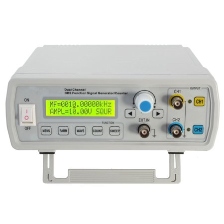 Square Wave Signal Generator (2MHz Dual Channel DDS Function Signal dds signal generator Generator Sine/Square Wave Sweep Counter )