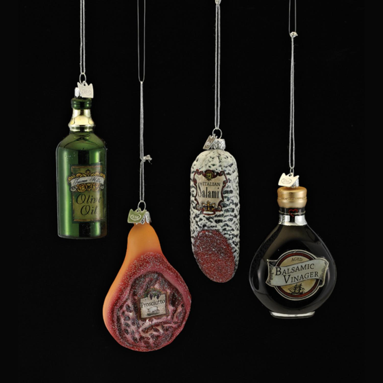 KSA Pack of 8 Noble Gems Glass Italian Food Salami, Olive...