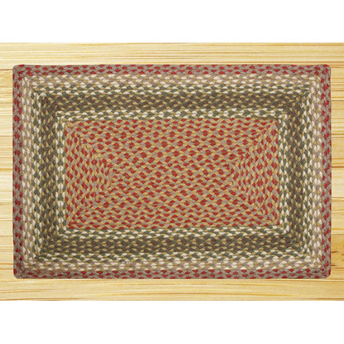 Earth Rugs Olive/Burgundy/Gray Braided Area Rug