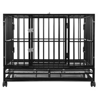 SmithBuilt Heavy Duty Dog Cage, Double Door