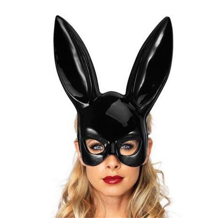 Hot Sale Bright Easter Party Rabbit Ears Mask Half Face Masks Nightclub Bar Masquerade](Nightclub Halloween)