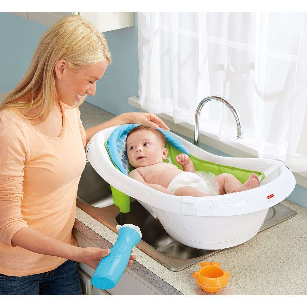 Fisher-Price 4-in-1 Sling \'n Seat Tub, Green - Walmart.com