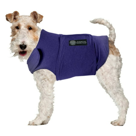 (AKC Calming Coat Anti-Anxiety Stress Relief Coat For Your Dog Blue Med 20-50lbs.)
