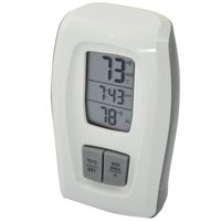 AcuRite Wireless Thermometer Clock, White