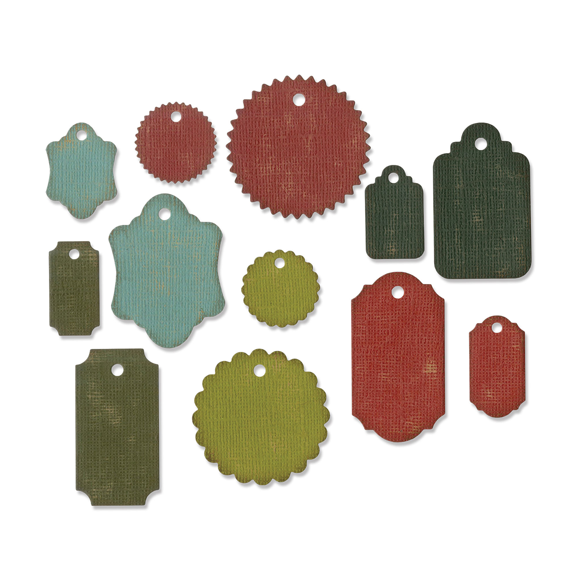 Sizzix Thinlits Dies - Gift Tags by Tim Holtz