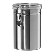 Canister Set Stainless Steel - Beautiful Canisters for Kitchen, Medium 64 fluid oz, with Airtight Lids, Food Storage Container, Tea Coffee Sugar Flour Canisters by SilverOnyx - 1 pc