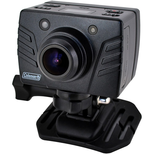 Coleman Bravo Full HD 1080p Action Camera Kit with Removable LCD and Mounts