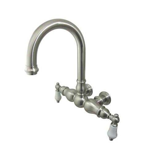 Kingston Brass  CC3003T  Clawfoot Tub Filler  Vintage  Faucet  Double Handle  ;Satin Nickel