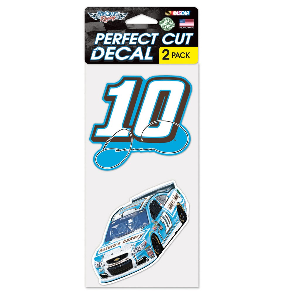 Danica Patrick Official NASCAR 4 inch x 4 inch  Each Die Cut Car Decal 2-Pack by WinCraft