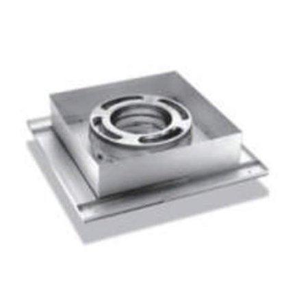 "DuraVent 6DP-FCS 6"" Inner Diameter - DuraPlus Class A Chimney Pipe - Triple Wall - 14.25"" Flat Ceiling Support Box"