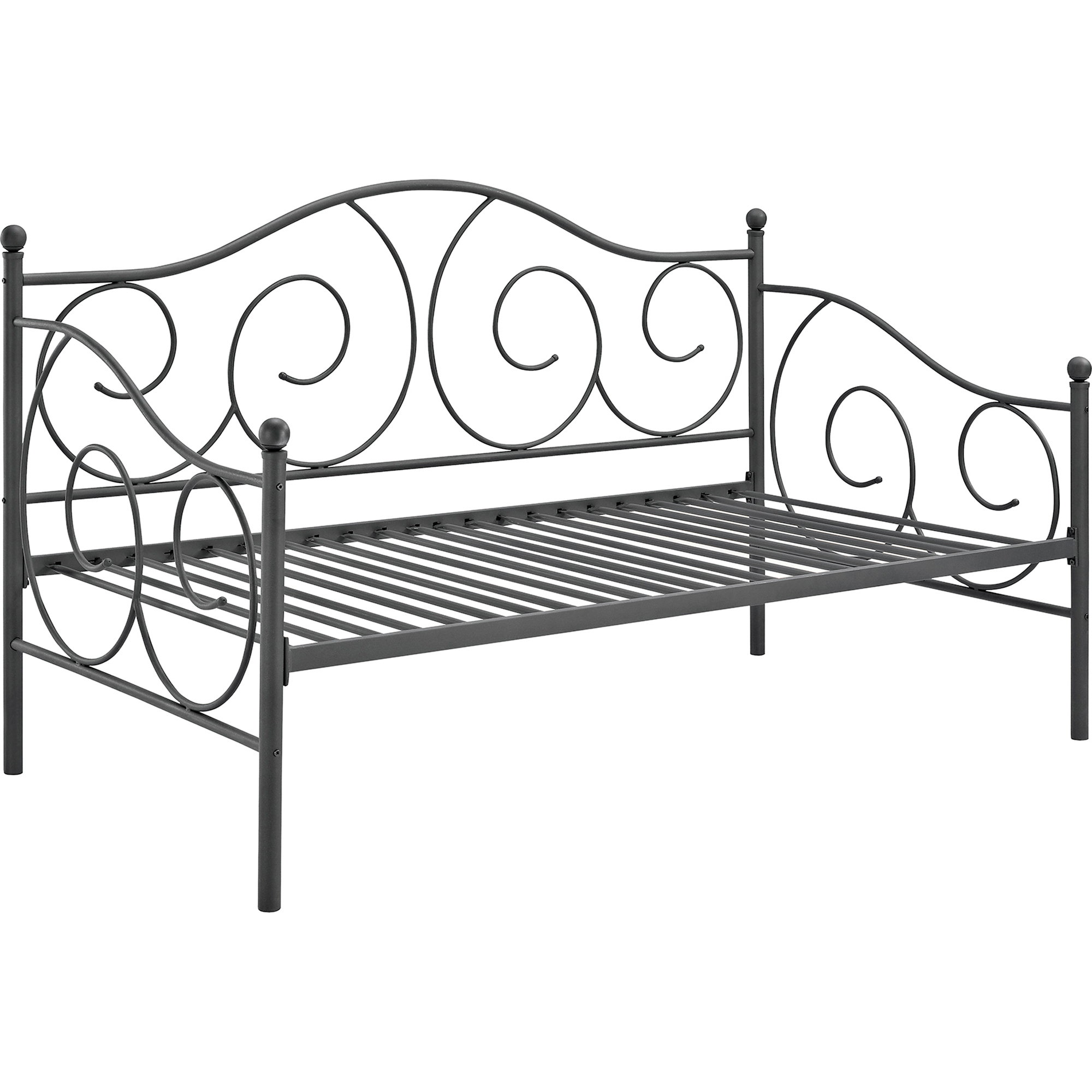 DHP Victoria Metal Frame Daybed Twin Size Multiple Colors