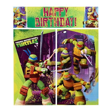 Teenage Mutant Ninja Turtles Party Wall Decoration, 5pc](Ninja Turtle Party Decorations)