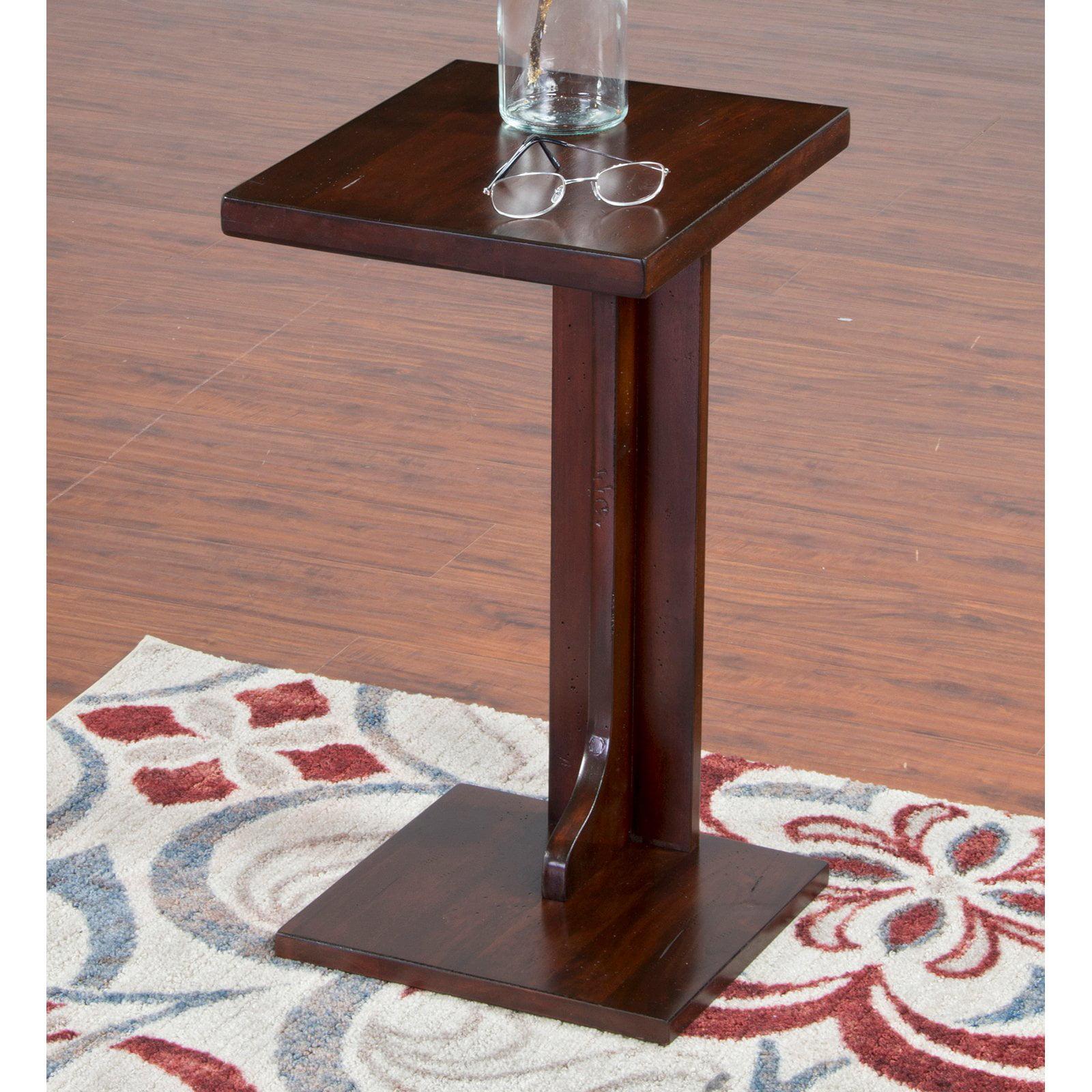Sunny Designs Vineyard End Table - Rustic Mahogany