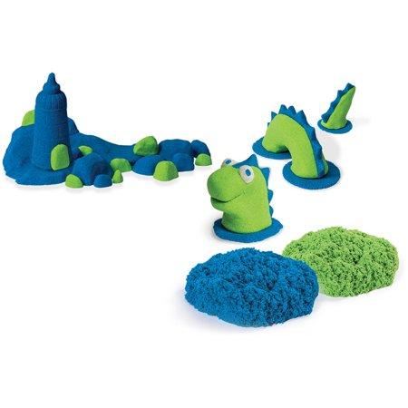 The One and Only Kinetic Sand Build, 1lb Color Pack, Green and Blue