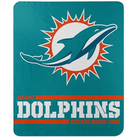Miami Dolphins The Northwest Company 50'' x 60'' Split Wide Fleece Throw Blanket - No Size
