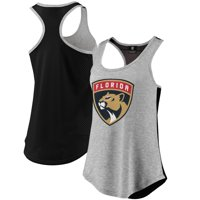 Florida Panthers Fanatics Branded Women's Overtime Flow Out Tank - Heathered Gray/Black