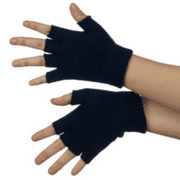 Navy Blue Fingerless Gloves (Pair)
