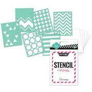 """Heidi Swapp 3"""" x 4"""" Mini Stencil Kit"""