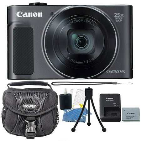 Canon PowerShot SX620 HS 20.2 MP 25X Optical Zoom Wifi / NFC Enabled Point and Shoot Digital Camera Black with Premium