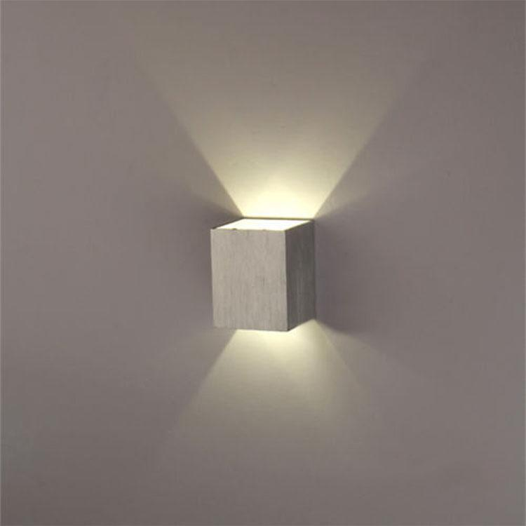 Elecmall Modern 3W LED Square Wall Lamp Hall Walkway Living Room Light Fixture Elec by
