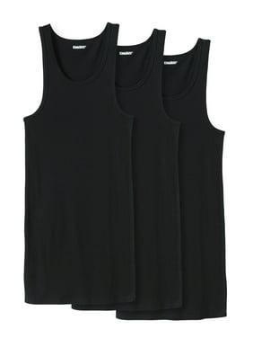 KingSize Men's Big & Tall Cotton Tank Undershirt 3-Pack