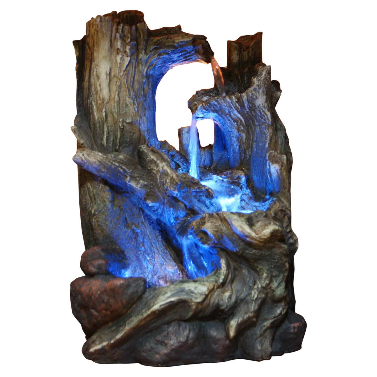 "Click here to buy 14"" Tree Trunk Tabletop Fountain with LED Light by Alpine Corporation."