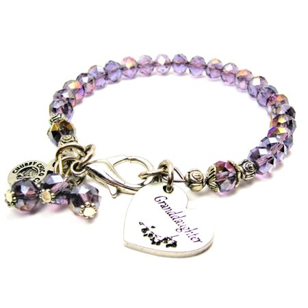 Lavender Heart (Chubby Chico Charms Granddaughter Heart Splash of Color Bracelet in Lavender Purple)