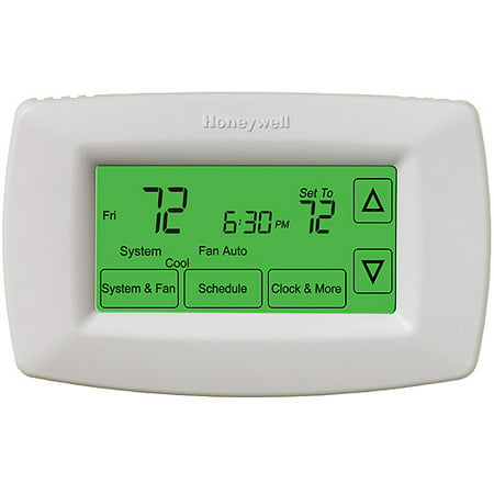 Honeywell Touchscreen 7-Day Electronic Programmable (Best Touch Screen Programmable Thermostat)