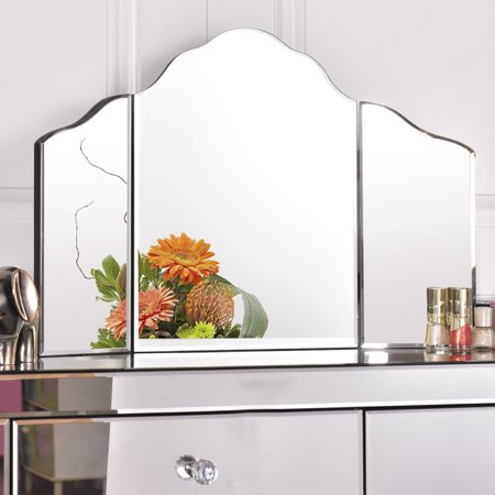 Large Four Light Vanity - Gymax 27''x18'' Large Trifold Vanity Mirror Makeup Dressing Cosmetic Mirror Tabletop