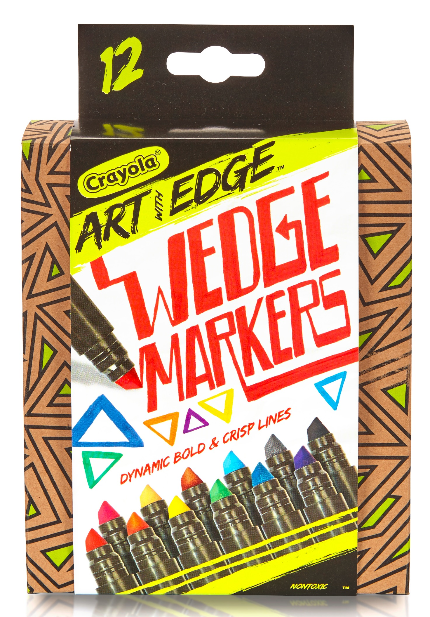 Crayola 12 Count Art with Edge Wedge Tip Markers Aged Up Coloring