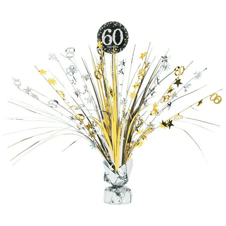 60th Sparkling Celebration Centerpiece for Birthday - Party Supplies - Licensed Tableware - Misc Licensed Tableware - Birthday - 1 Piece](60th Bday Decorations)