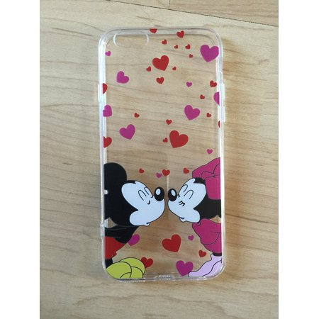 Mickey & Minnie Mouse TPU Clear Thin Soft Case For iPhone 6/6s 4.7