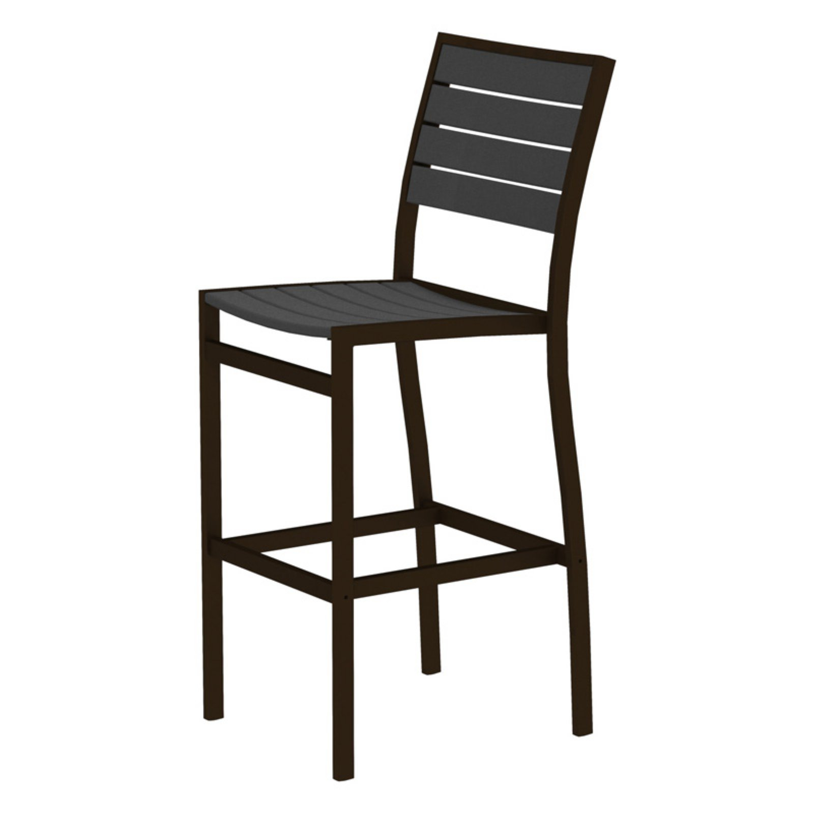 POLYWOOD® Euro Bar Side Chair with Aluminum Frame