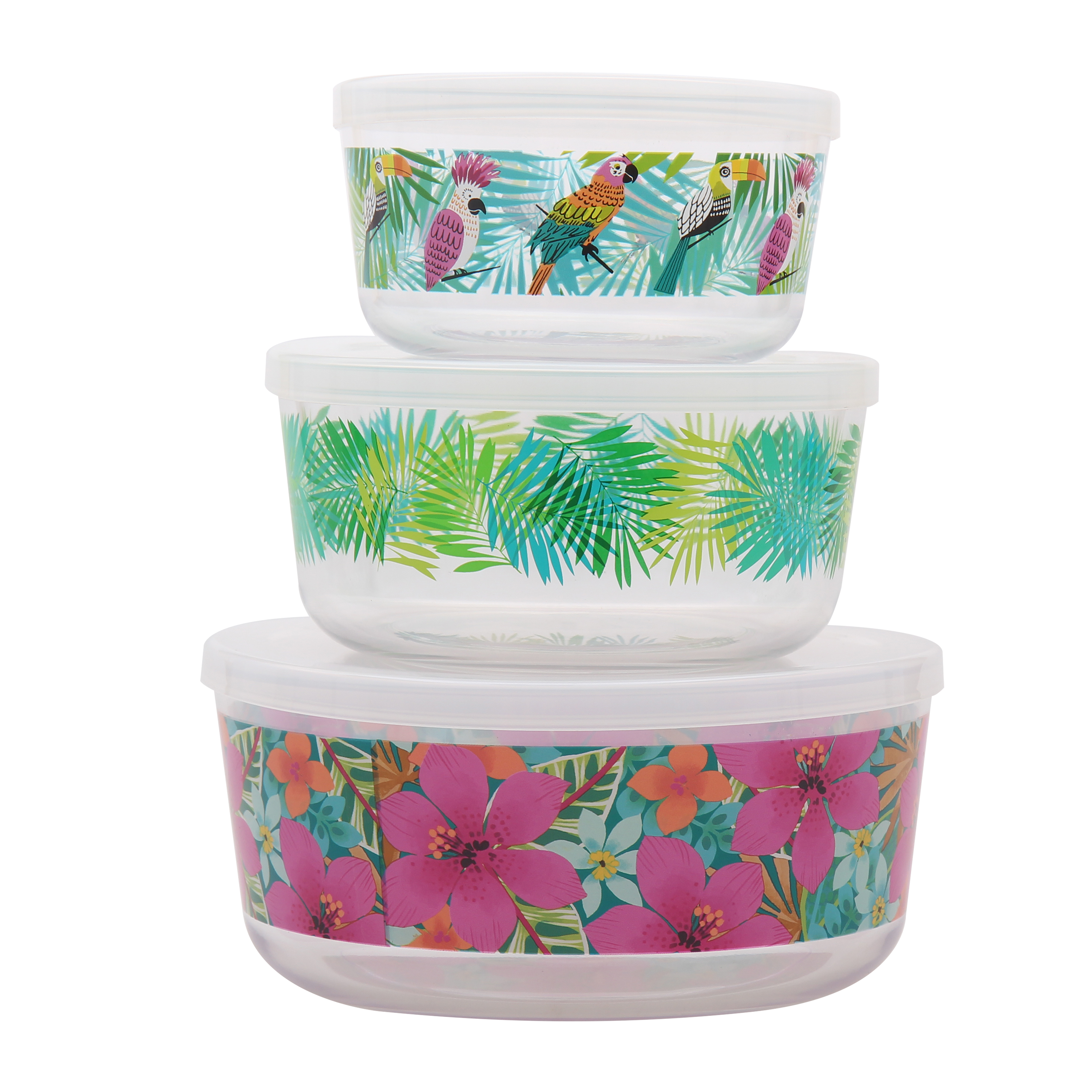 Mainstays Tropical 3 Piece Bowl Set