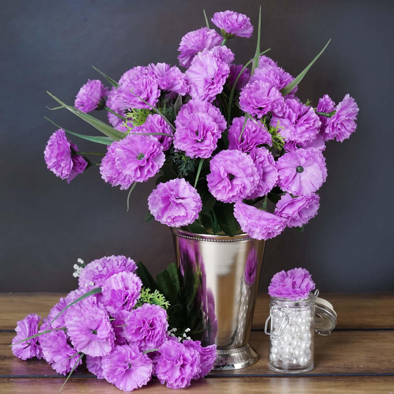 Efavormart 252 Mini Artificial Carnations for DIY Wedding Bouquets Centerpieces Arrangements Party Home Decorations - 15 colors