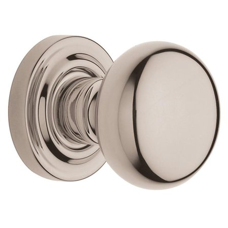 Baldwin 5030 Pair of Estate Knobs without Rosettes, Lifetime Polished Nickel